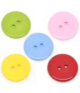 Pack 10 botones redondos 23mm