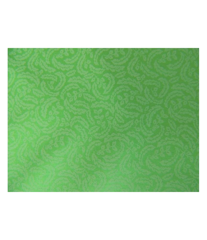 Tela verde estampado hojas