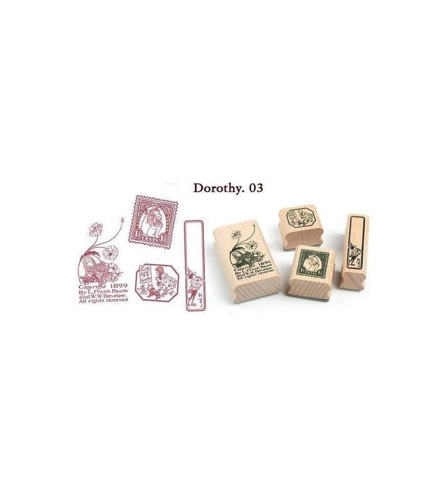 Lata 4 sellos madera Dorothy