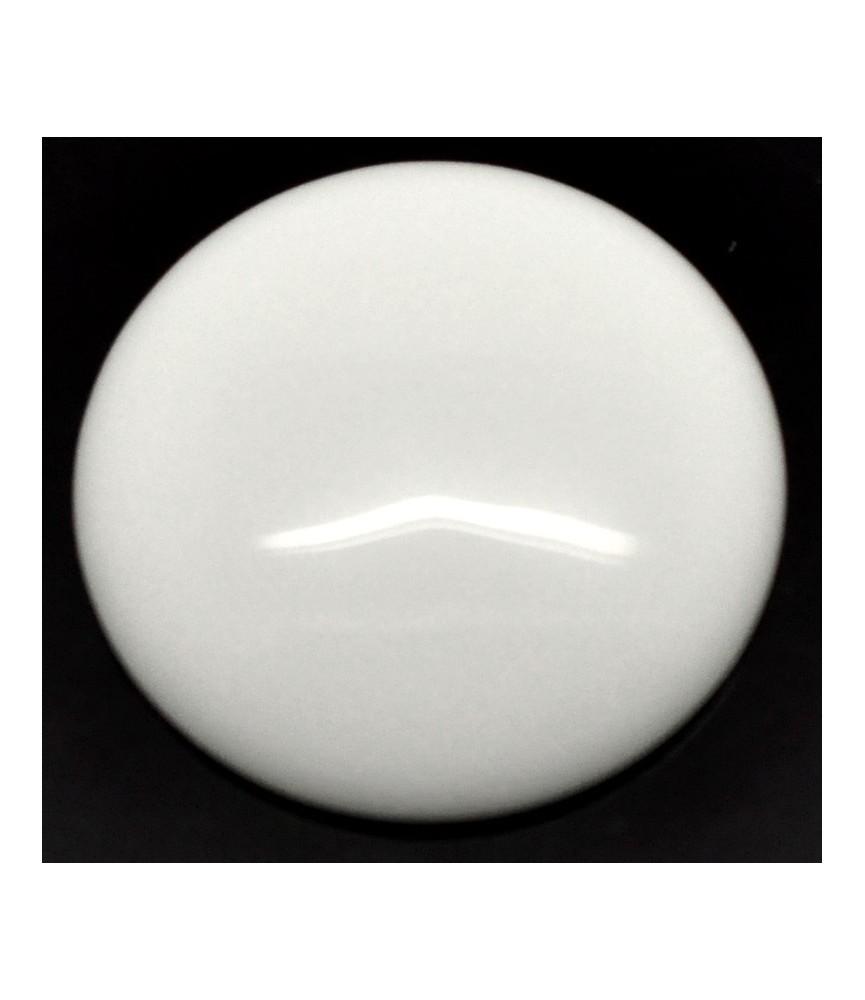 Cabuchon blanco de piedra 30 mm