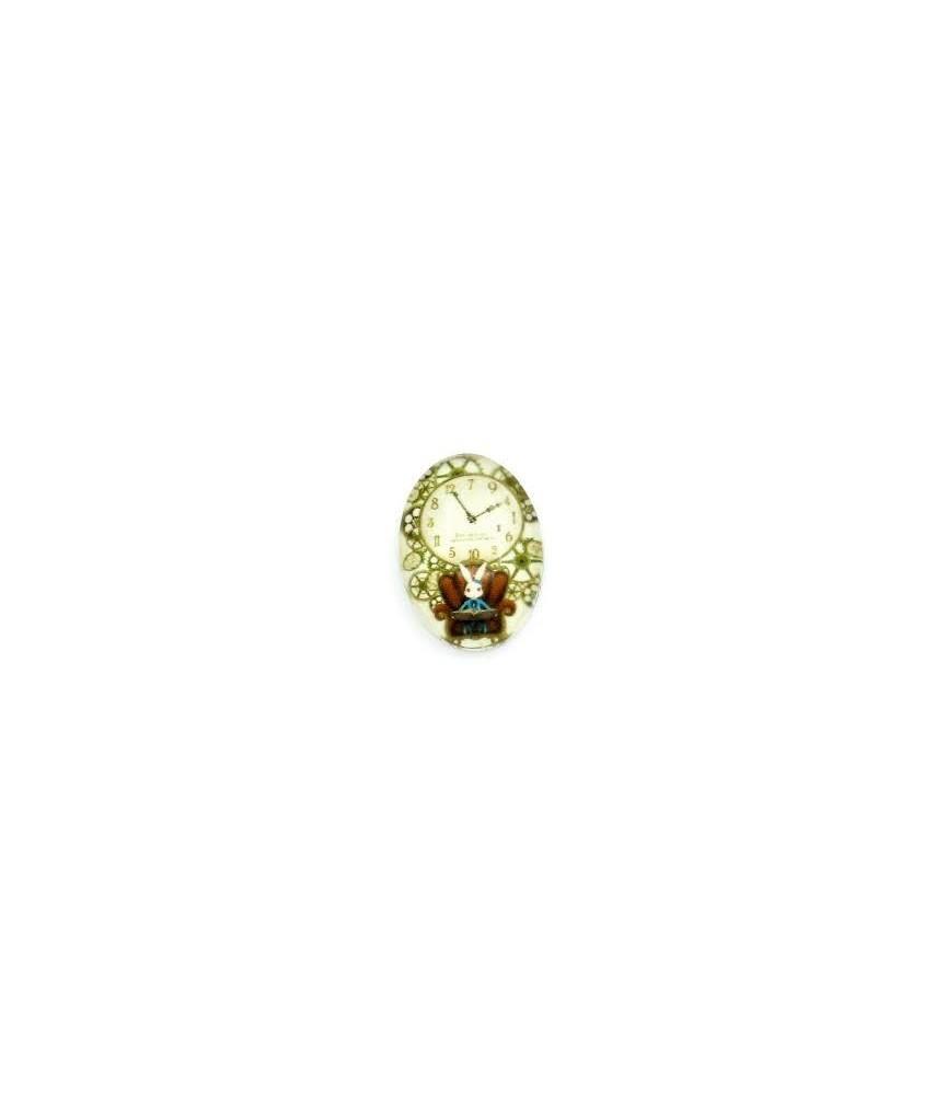 Cabuchon cristal reloj conejo 13x18mm