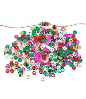 Bolsa 5000 lentejuelas de colores