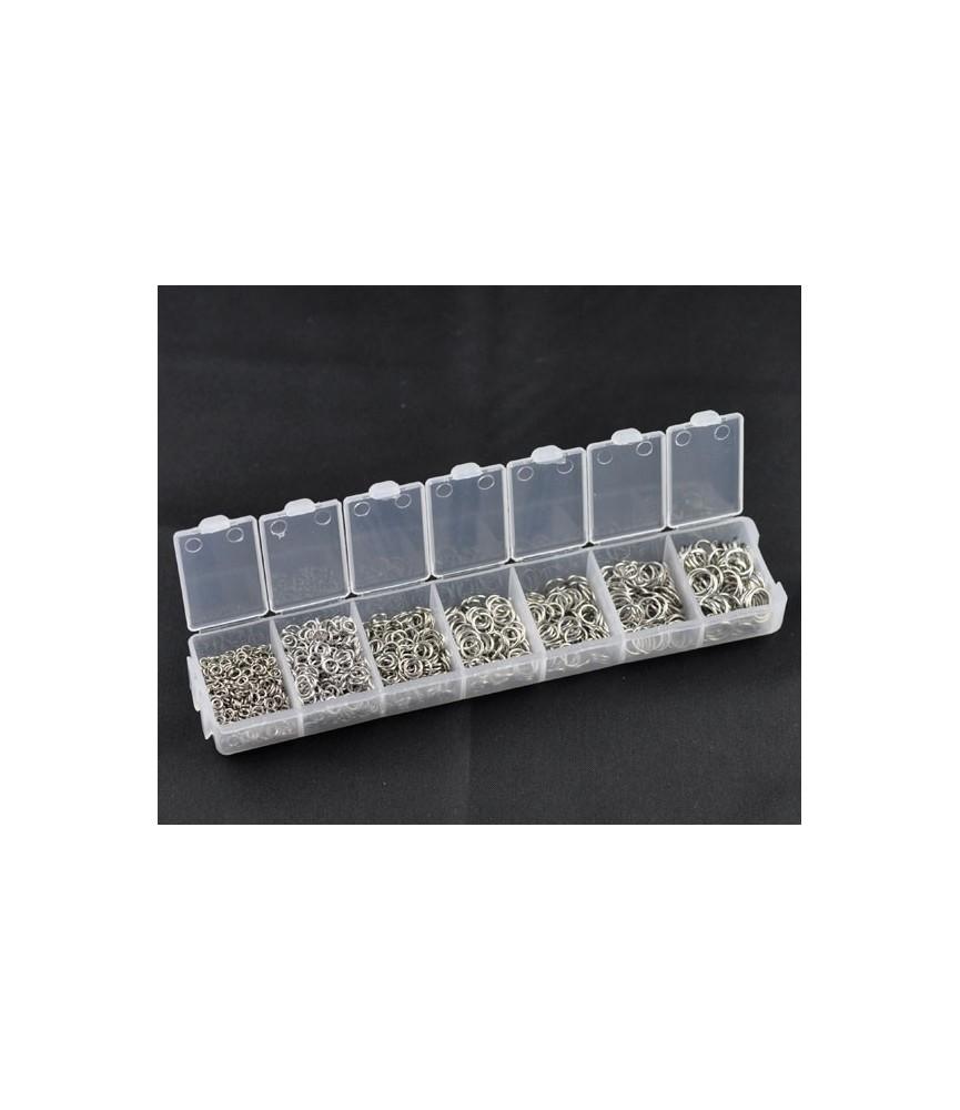 Caja de arandelas color plata