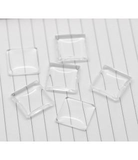 Cabuchon cristal cuadrado 20x20