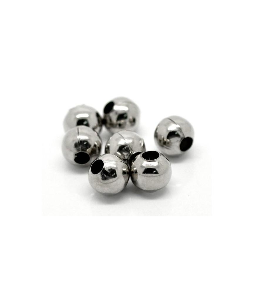 Pack 10 cuentas metal 10mm