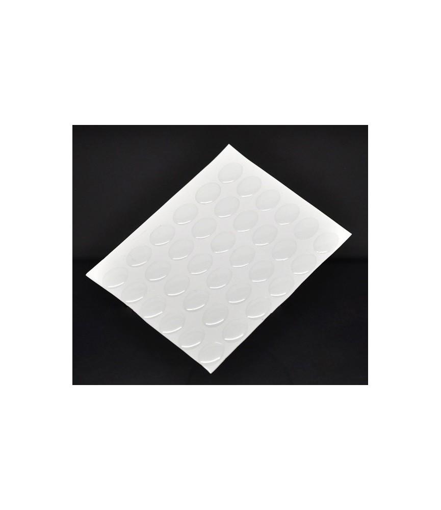 Pack 12 Cabuchones adhesivos oval 13x18mm