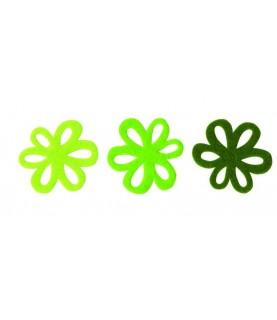 Pack 9 Flores mod fun tonos verdes