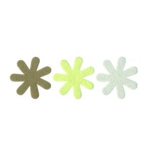 Pack 6 flores mod love tonos beige