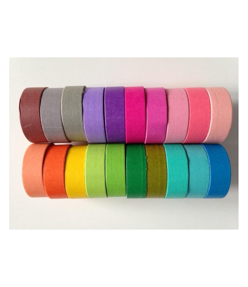 1 rollo washi tape colores lisos