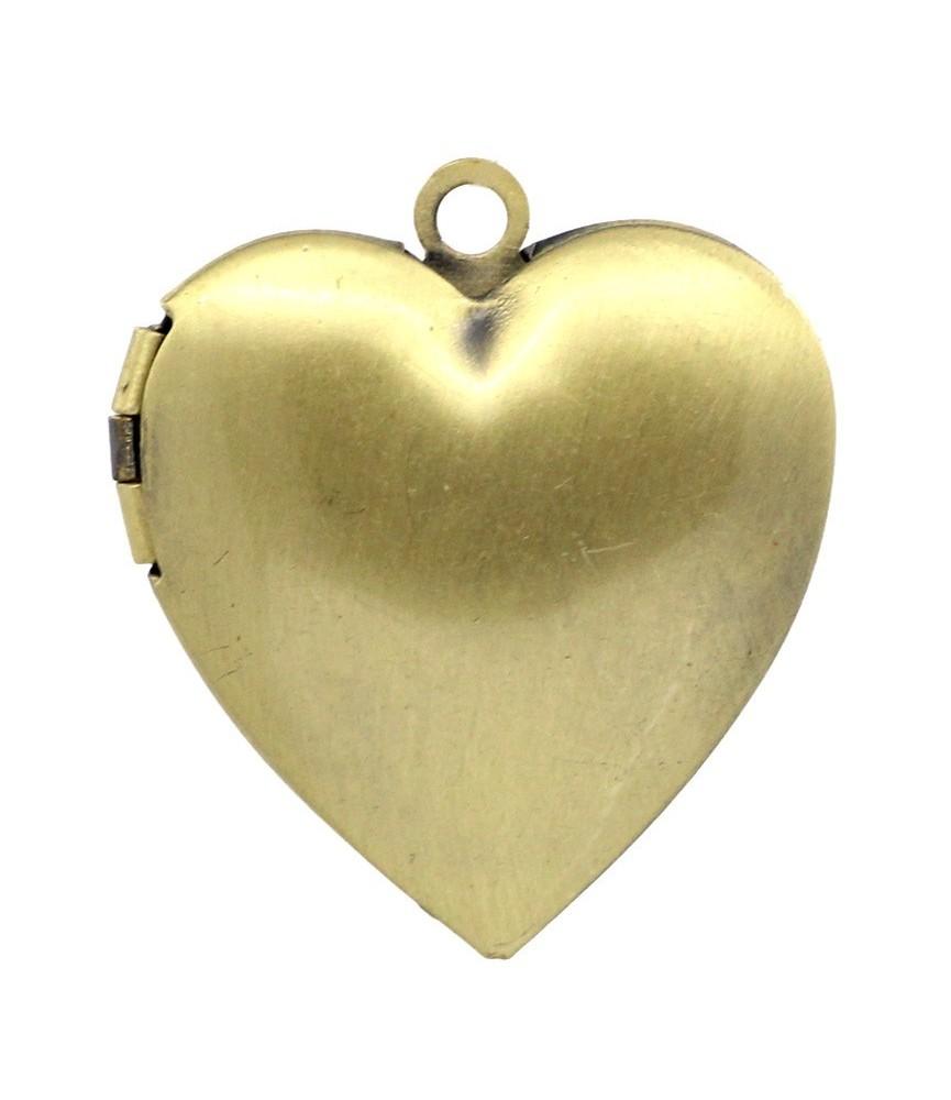 Base de camafeo guardapelo de corazon