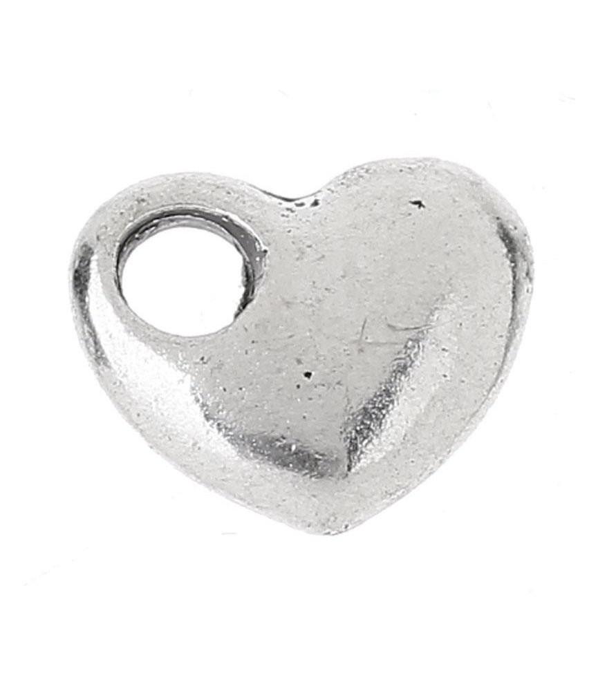Charm corazón San Valentín plateado