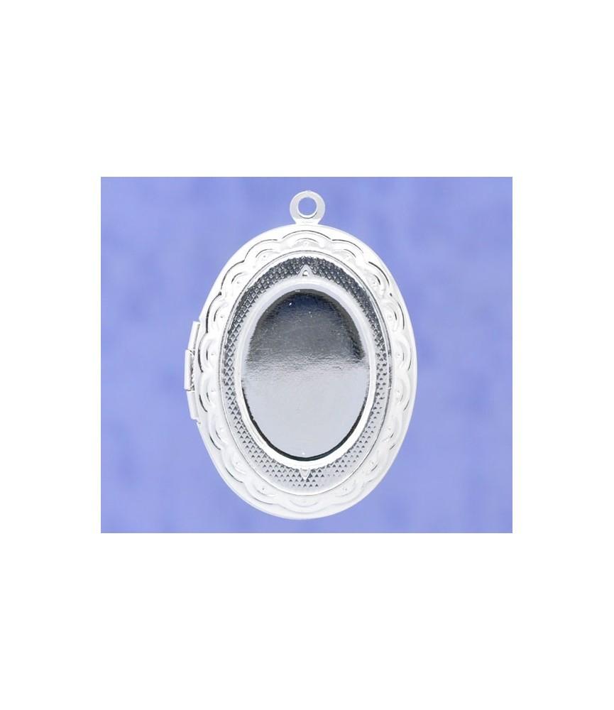 Base de camafeo guardapelo de13x18mm plata