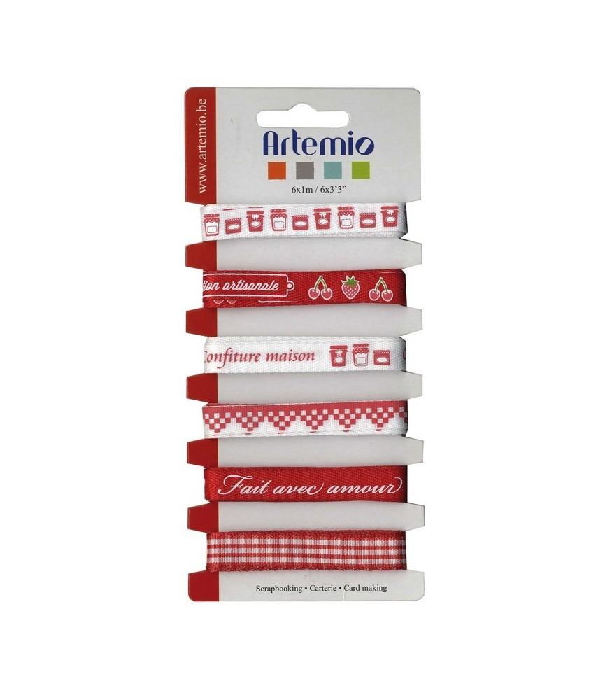 Pack 6 cintas estampadas mermeladas