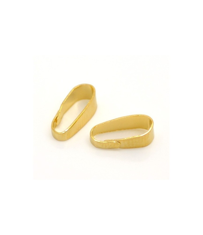 Pack de 10 enganches para colgar dorados