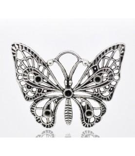 Colgante Mariposa plata vieja