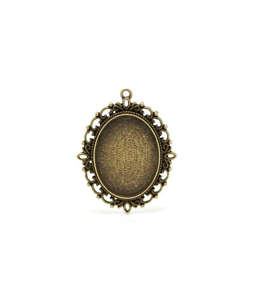 Base de camafeo de 30x39 mm bronce