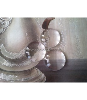 Cabuchon cristal redondo 22 mm