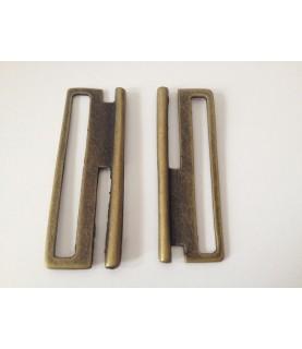 Hebillas para cinturón elástico 6 cm bronce