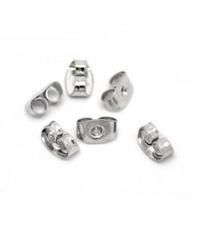 20 Tuercas pendientes plata de 6x4mm