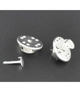 Bases para pin en color plata - Conideade Manualidades