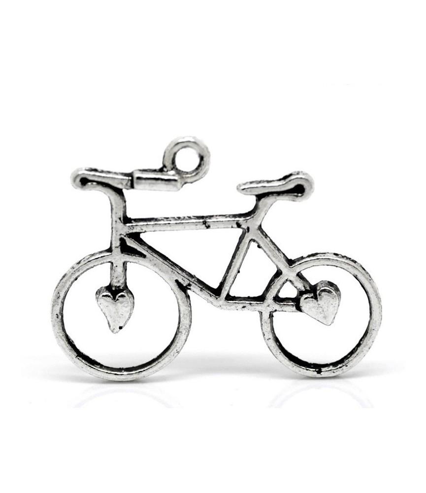 Charm bicicleta corazones