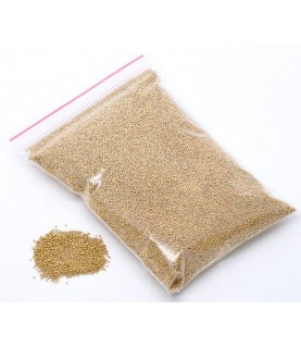 Bolsa 100 gr de micro cristales dorados