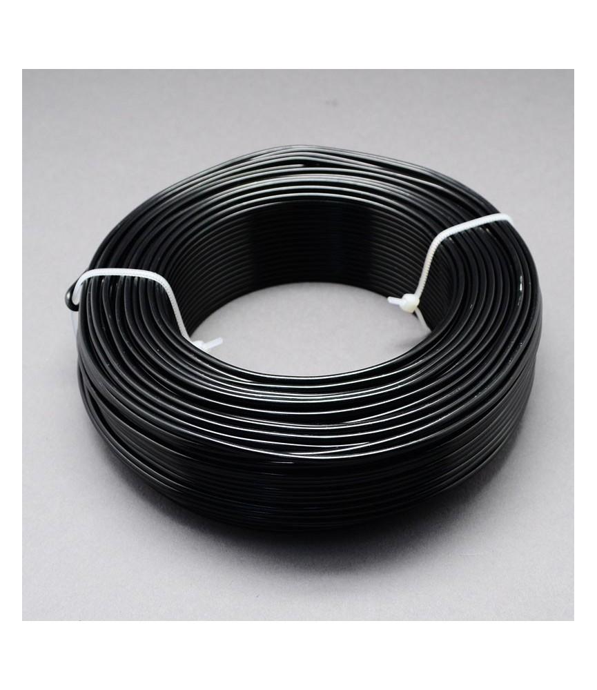 Alambre de aluminio negro 1mm