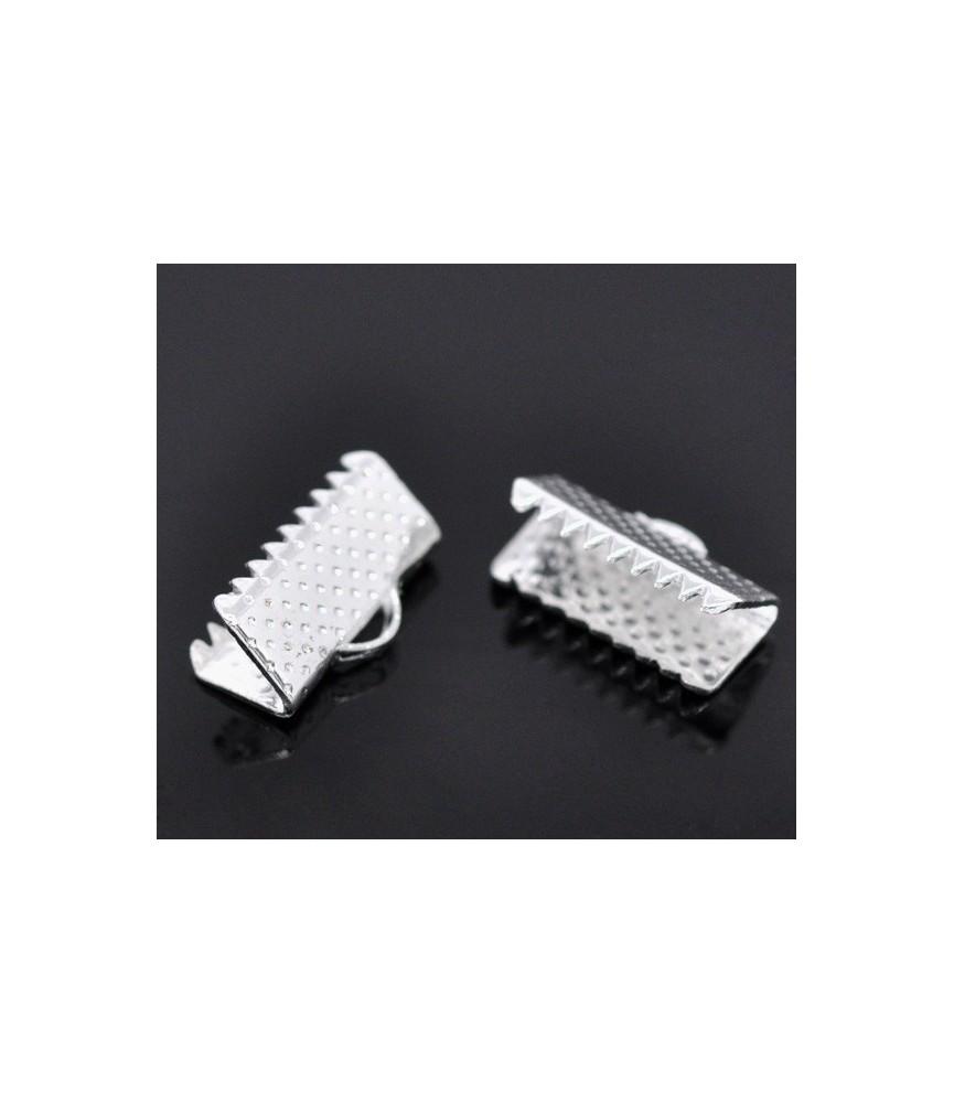 Terminal dentado 13mm plateado