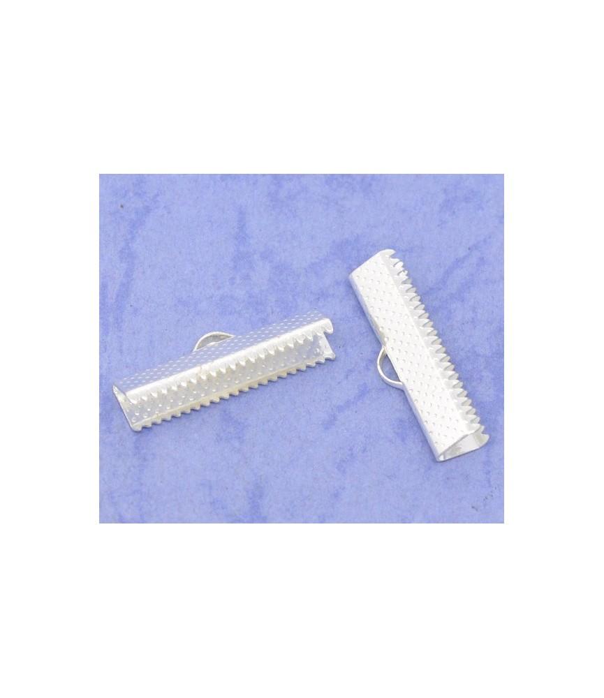 Terminal dentado 25x7,5mm plateado