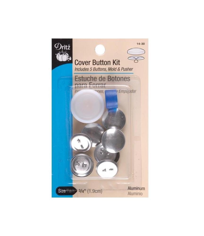 Kit forrar botones talla 30 y 5 botones