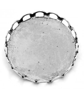 Base de camafeo 25 mm con broche