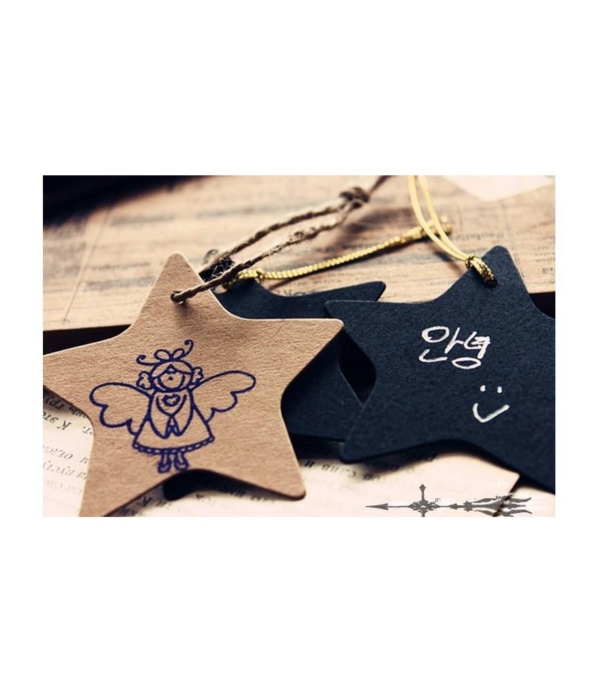 Set de 10 Etiquetas estrella craf