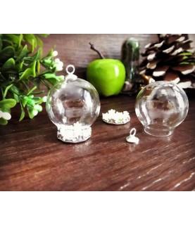 Set de camafeo colgante con esfera de cristal 20mm