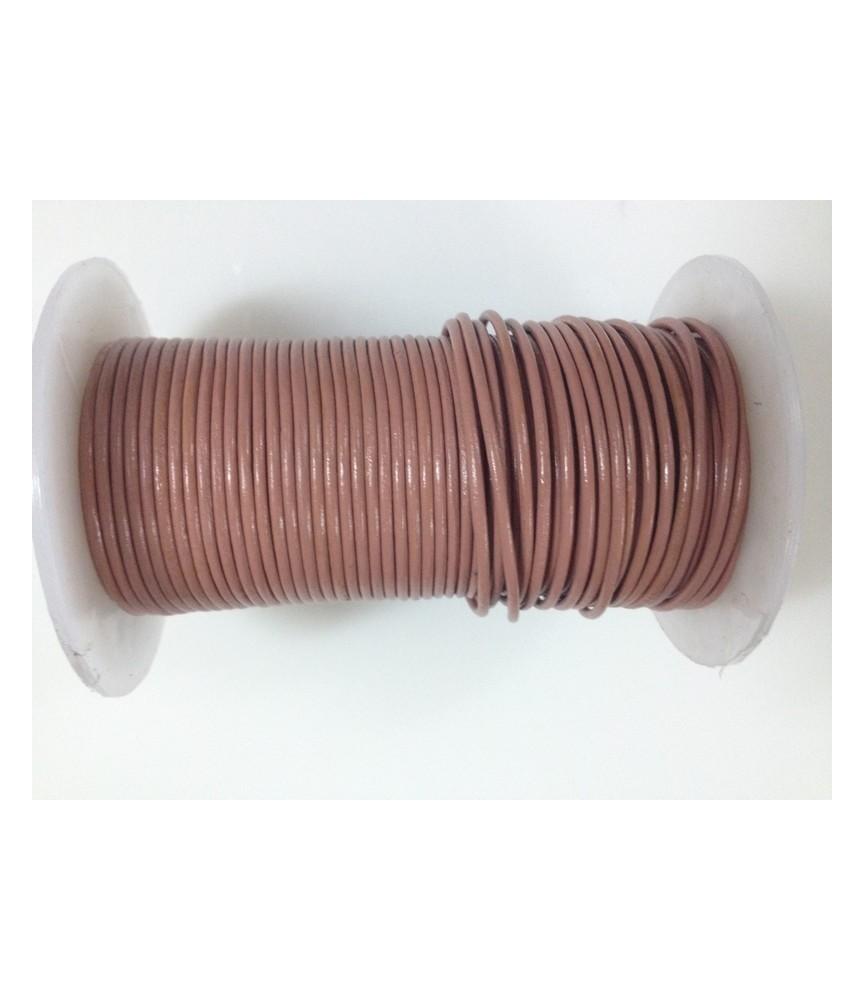 Cordón de cuero de 2 mm varios colores