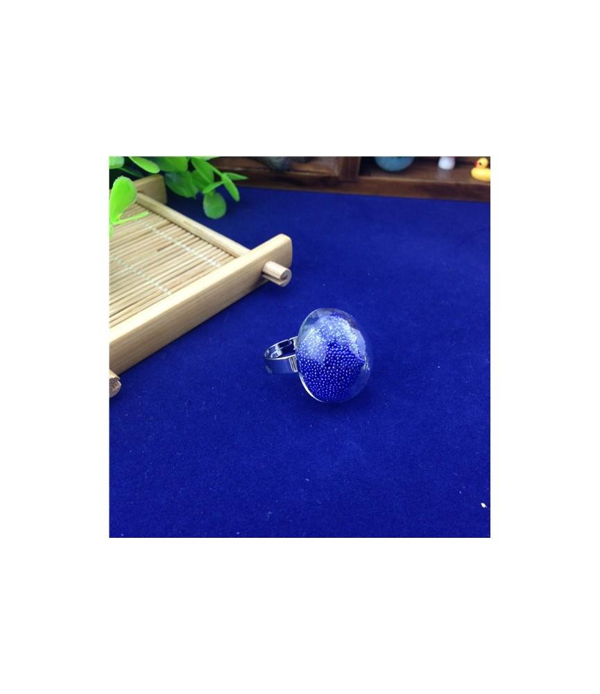 Set anillo con cristal redondo de 25 mm