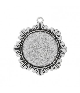 Base camafeo marco flor de 30 mm