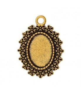 Base de camafeo florecitas dorado