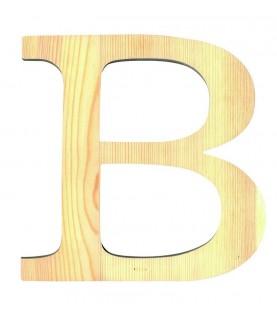 """Letra madera """"B"""""""