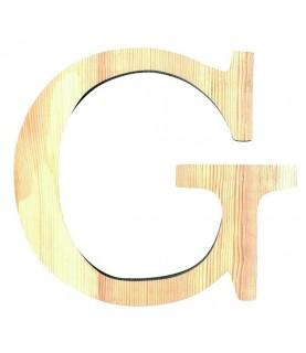 """Letra madera """"G"""""""