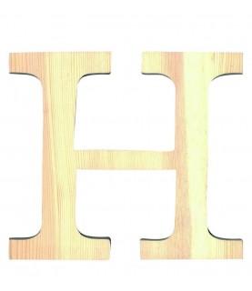 """Letra madera """"H"""""""