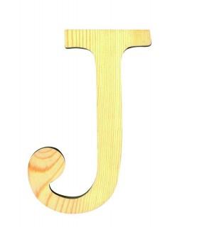 """Letra madera """"J"""""""