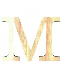 """Letra madera """"M"""""""