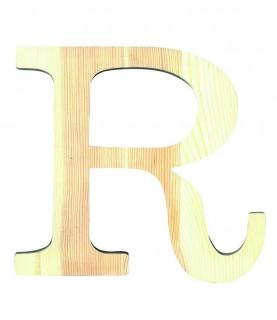 """Letra madera """"R"""""""