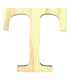 """Letra madera """"T"""""""