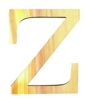 "Letra madera ""Z"""