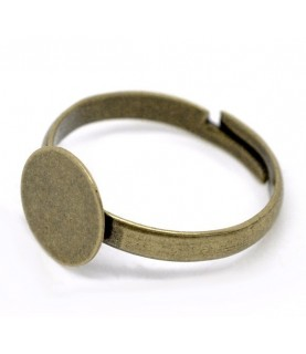 Anillo ajustable bronce con base de 10mm