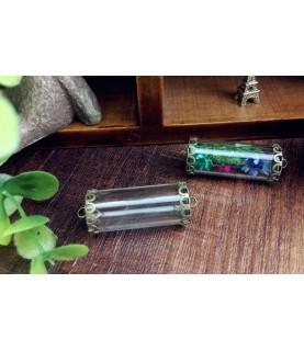 Set colgante tubo de cristal