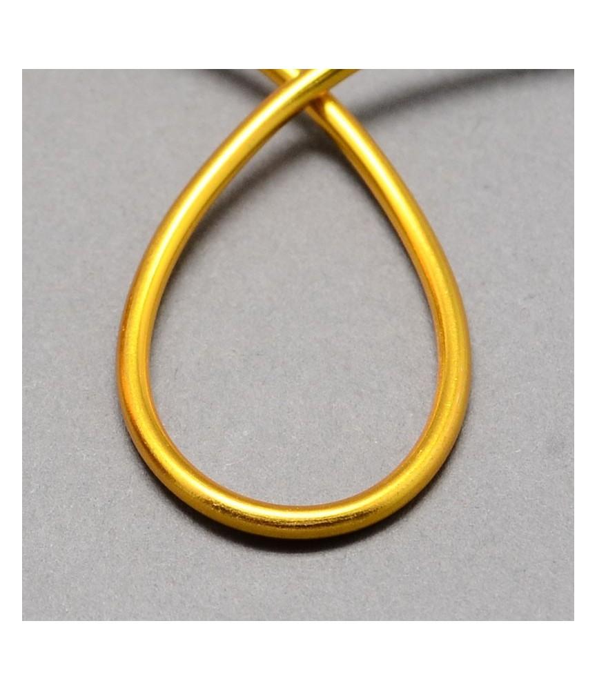 Alambre de aluminio 1.5mm dorado