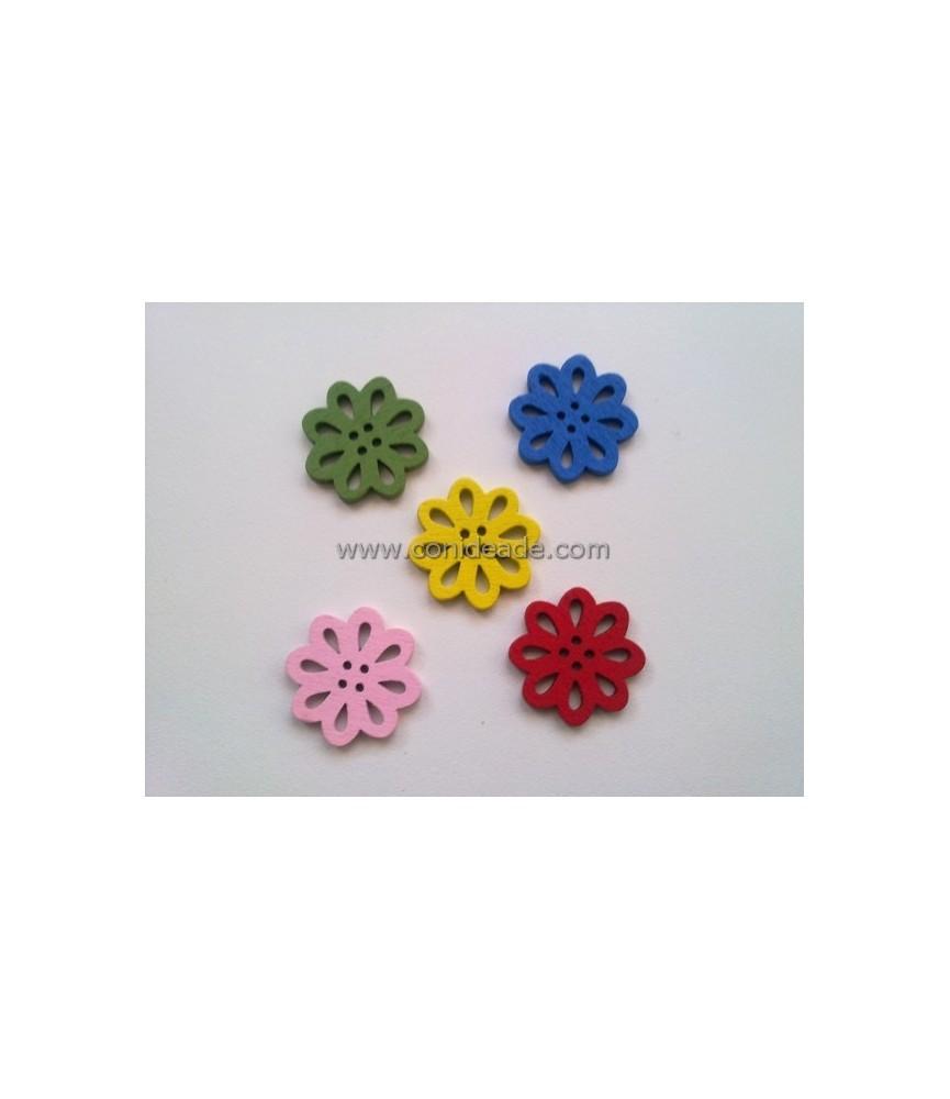 Pack 5 botones de flores