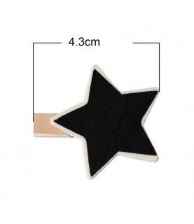 Mini pinza pizarra estrella
